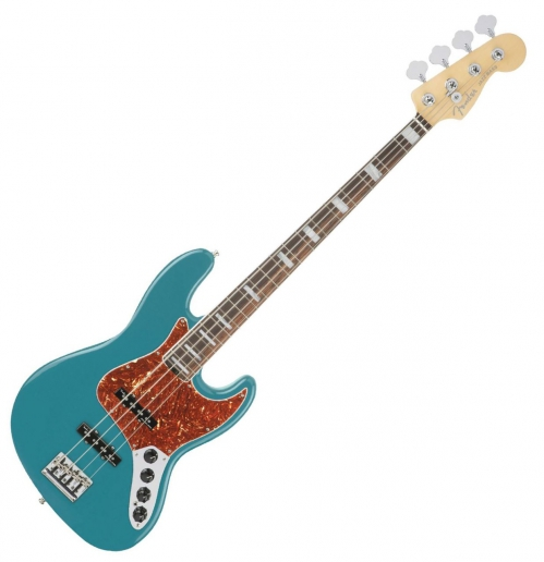 Fender American Elite Jazz Bass, E-Bass, Ocean Turquoise