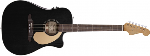 Fender Sonoran SCE Thinline Black WN electric acoustic guitar