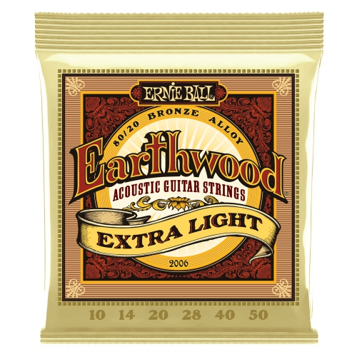 Ernie Ball 2006 Earthwood Extra Light Saiten für akustische Gitarre