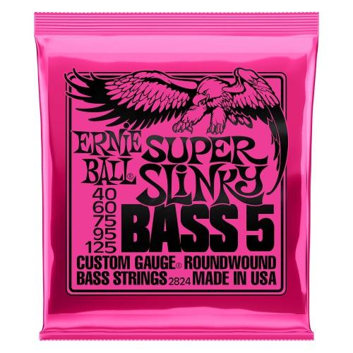 Ernie Ball 2824 NC 5′s Super Slinky Bass Saiten für Bassgitarre