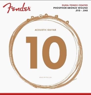 Fender 860XL Phosphor Bronze Dura Tone Coated 10-48 acoustic guitar strings