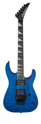 Jackson JS32Q DKA Arch Top Amaranth Fingerboard Transparent Blue