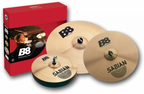 Sabian B8 set 14″HH, 16″Thin Crash, 20″Ride Beckensatz