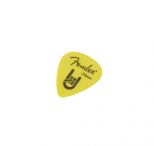 Fender 351 Shape Rock On 0.73 yellow Plektrum