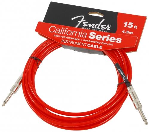 Fender California Candy Apple Red 15ft Gitarrenkabel