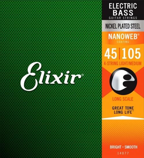 Elixir 14077 NW LS Saiten für Bassgitarre