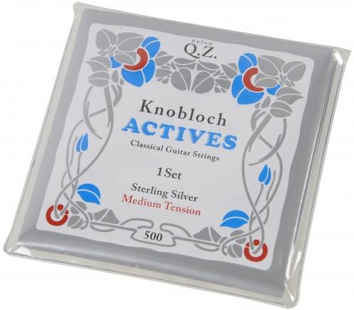 Knobloch Actives 500 Q.Z Sterling Silver Medium Tension Saitensatz für klassische Gitarre