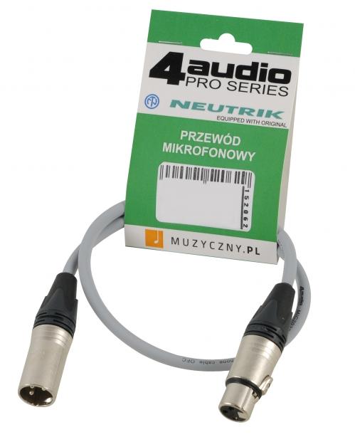 4Audio MIC PRO 0,5m Grey Leitung