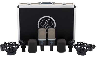 AKG C 214 ST Stereo-Set - 2x C 214, 2x Spinne, 2x Windschutz & Koffer