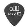 Dunlop 482R Tortex Pitch Black Jazz Plektrum