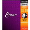 Elixir 11027 Nanoweb Custom Light Acoustic Guitar Strings (11-52)