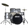 DDrum D2 Brushed Silver drum set
