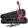 Stagg EVN X 4/4 MRD 4/4 electric violin set with metallic red electric violin, soft case and headphones