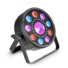 Cameo Flat Moon Flat 3-in-1 multi-effect RGB+UV PAR-light with strobe