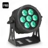Cameo  FLAT PRO 7 IP65 - 7 x 10 W FLAT LED Outdoor RGBWA PAR - reflektor LED w czarnej obudowie IP65