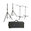 Gravity SSMS SET 1 Set of 2 Speaker and 2 Microphone Stands in Transport Bag