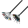 Adam Hall K3 L8 PC Multicore Kabel 8 x Klinke mono auf 8 x Cinch male 3 m