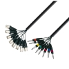 Adam Hall K3 L8 MV 0300 Multicore Kabel 8 x XLR male auf 8 x 6,3 mm Klinke stereo 3 m