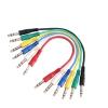Adam Hall Cables K3 BVV 0060 Patchkabel Set aus 6 Kabeln 6,3 mm Klinke stereo auf 6,3 mm Klinke stereo 0,6 m