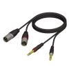 Adam Hall Cables REF 708 150 Audiokabel 2 x XLR male auf 2 x 6,3 mm Klinke mono 1,5 m