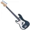 Vintage LV4BB gitara basowa, leworęczna, kolor czarny