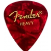 Fender 351 Red Moto Heavy guitar pick