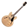 Luna Athena Semi Hollow Natural electric guitar