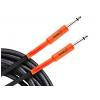 Ortega OECIS 10 black tweed guitar cable, 3m