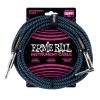 Ernie Ball 6060 Instrumentenkabel 7,62 m, Schwarz/Blau