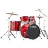 Yamaha Rydeen Power Fusion drum kit + hardware, hot red