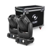 Flash 2x 3R Moving Head 3in1 BEAM+SPOT+WASH + case