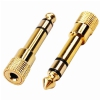 Monacor HA-37G stereo adapter Jack, gold-plated