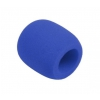 Monacor WS-5 microphone windscreen, blue