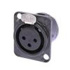 Neutrik NC3FD-L-1BAG female panel socket, black