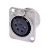 Neutrik NC4FD-L-1 female XLR panel socket