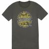 Fender Cali Coastal Yellow Waves Men′s T-Shirt, Gray, XL koszulka