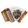 Hohner Corona II Los Tigres, akordeon diatoniczny FBbEb biały z pokrowcem