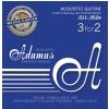 Adamas (665168) Phosphor Bronze Nuova powlekane struny do gitary akustycznej - 3pack Super-Light .011