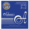 Adamas (665163) Phosphor Bronze Nuova powlekane struny do gitary akustycznej - 3pack Ex-Light .010