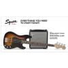 Fender Precision Bass PJ Pack, Laurel Fingerboard, Brown Sunburst, 230V EUR zestaw
