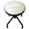 Stim ST11BI mini stool, adjustable height, white upholstery