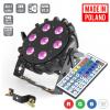 LED PAR 64 SLIM 7x10W RGBW Mk2 + IR Fernbedienung