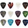 Fender 351 Celluloid Medley guitar picks, 12 pcs., extra heavy