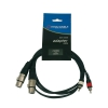 Accu Cable AC 2XF-2R/1,5 przewód 2x XLRż - 2x RCA 1,5m