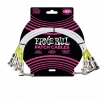 Ernie Ball 6055 guitar cable 0,30m (3-pack)