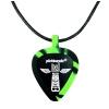 PICKBANDZ 6153TT Necklace Neon Green & Black guitar pick holder