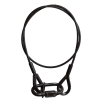 Adam Hall Accessories S 56102 B Black 5 mm Steel Rope with 2 x Thimble Eyes, 1 m and Quick Link