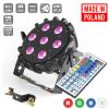 Flash Pro LED PAR SLIM 7x10W RGBW 4in1 15° IR+ WIRELESS DMX mk2 płaski reflektor LED