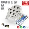Flash Pro LED PAR SLIM 7x10W RGBW 4in1 15° WHITE HOUSING IR+ WIRELESS DMX mk2 płaski reflektor LED biała obudowa
