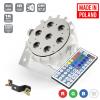 Flash Pro LED PAR SLIM 7x10W RGBW 4in1 15° WHITE HOUSING IR mk2 płaski reflektor LED biała obudowa